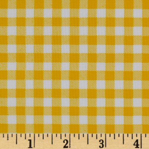 Oilcloth By The Yard (Oilcloth Gingham Yellow Fabric By The Yard)