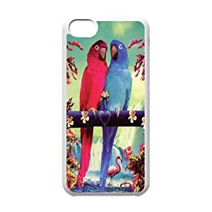 Funny Parrot,Cute Bird Protective Case 248 For Iphone 5c At ERZHOU Tech Store