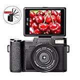 Digital Camera Camcorder Full HD 1080p 24MP Video Camcorders Vlogging Camera With Retractable Flash Light and UV Lens