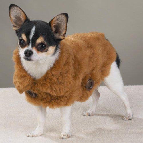 X-LARGE - SABLE - Faux Mink Coat - DOGGIE MINK COAT