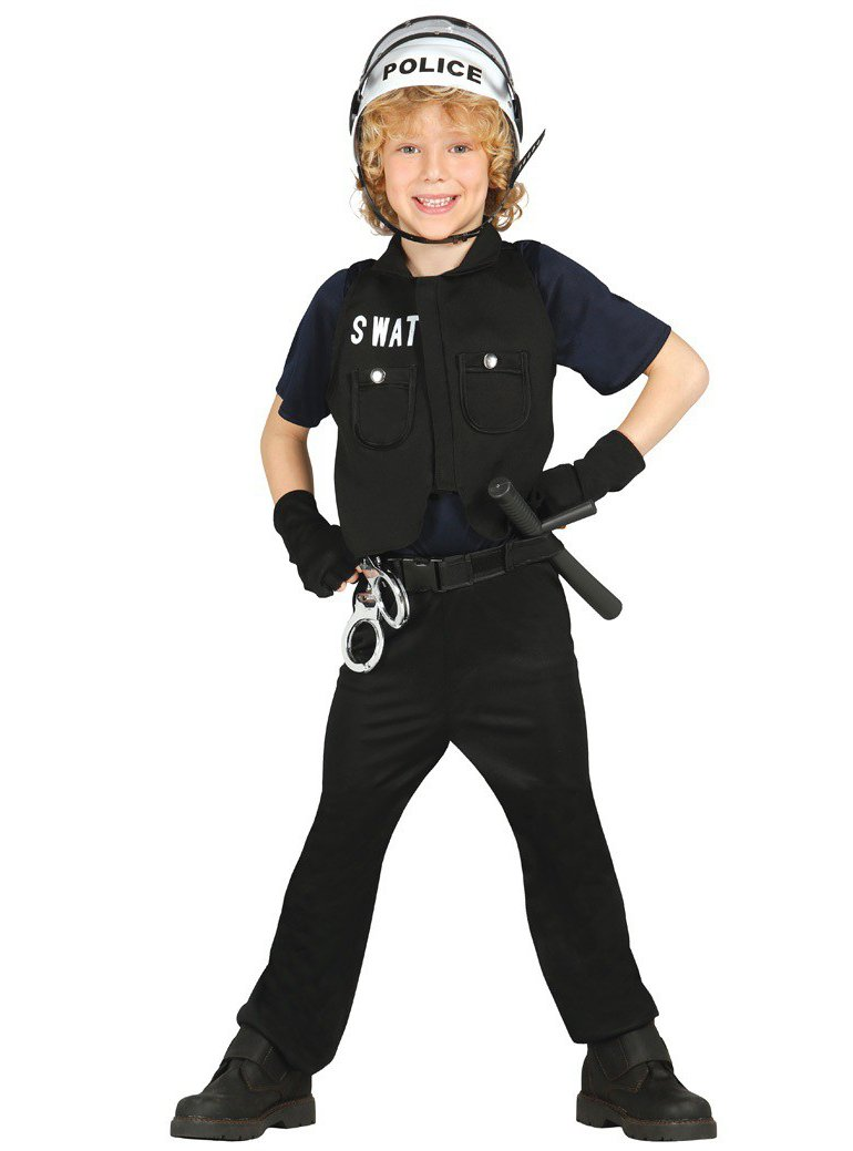 Disfraz de policía S.W.A.T. infantil (3-4 años): Amazon.es ...