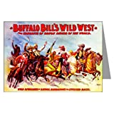 Single Circus poster Of Buffalo Bill's Wild West and Congress of Rough Riders of the World Wild rivalries of savage, barbarous and civilized races C1896 Greeting Card