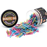 Route 66 Supply - 200 Piece Heat Shrink Butt Connector Terminals Set - 3 Color Coded Sizes Red Yellow Blue 22-10 AWG for Marine and Automotive Copper Wire Electrical Kit Assortment