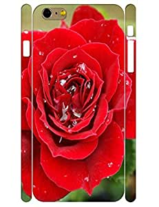 3D Print Elegant Red Rose Tough Phone Drop Protection Case for Iphone 6 Plus 5.5 Inch by icecream design
