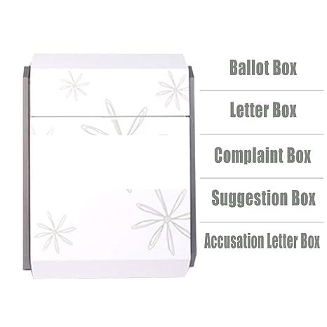 Amazon.com: Caja de sugerencias, caja de donación, caja de ...