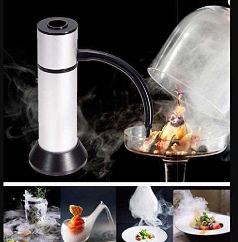 Portable Smoke Infuser, HUGGD Smoking Gun Food Smoker to Enhance Taste for Meat,Sous Vide, Grill, Bbq, Cocktail Drinks & Cheese. Uses Real Wood Chips (Silver) by HUGGD (Image #2)