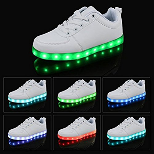 LED Sport Charging Shoes Fl towel White USB Present JUNGLEST Womens small SwYOqaqF