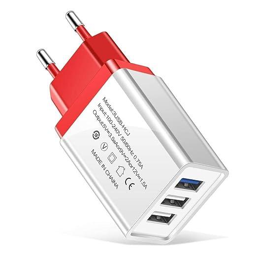 Victorig Ligero portátil UE Enchufe 3 puertos USB Cargador de teléfono móvil Bases de carga