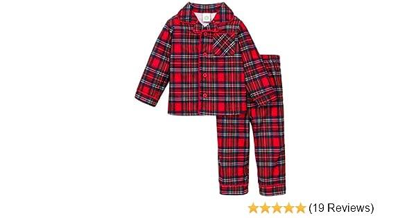 Amazon.com  Boys Christmas Pajamas Infant or Toddler Plaid Red  Clothing 386a673b7