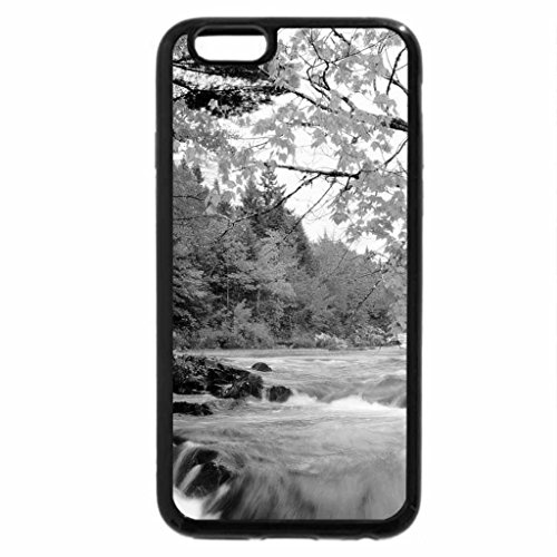 iPhone 6S Plus Case, iPhone 6 Plus Case (Black & White) - Autumn