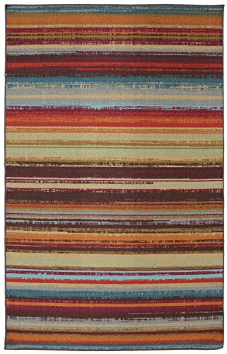 Mohawk Home Avenue Stripes Indoor/ Outdoor Printed Area Rug, 7'6x10', Multicolor from Mohawk Home