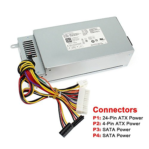 S-Union 220W Power Supply For Dell Inspiron 3647 660s Acer X1420 X3400 eMachines Gateway Series Delta DPS-220UB A Liteon H220AS-00 L220AS-00 L220NS-00 PS-5221-03DF R82HS 650WP FXV31 P3JW1 TTXYJ OR5RV by S-Union (Image #1)