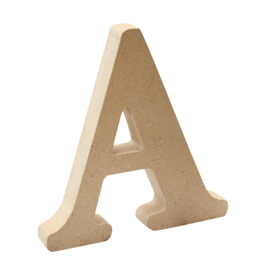 Homyl Diy Holz Alphabet Briefe Buchstaben f/ür Geburtstag BIRTHDAY