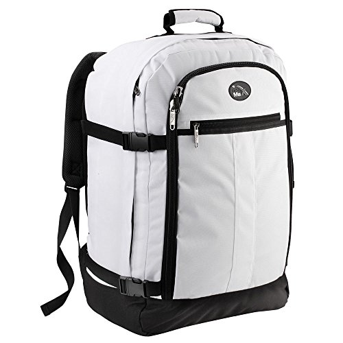3c8bccb010 Cabin Max Backpack Flight Approved Carry On Bag Massive 44 litre Travel  Hand Luggage 55x40x20 cm (White)