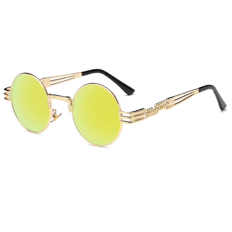 Gafas, Gafas de sol, Steampunk Sunglasses Luxury Men Round ...