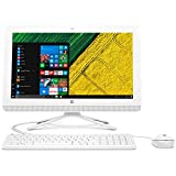 2017 Newest High Performance HP Premium 19.5-inch 1600x900 HD All-In-One Desktop PC Intel Celeron Dual-Core Processor 4GB RAM 500GB HDD DVD-RW Webcam HDMI Bluetooth WiFi Windows 10-Snow White