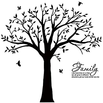 Luckkyy Large Family Photo Tree Wall Decor Wall Sticker Tree Branch