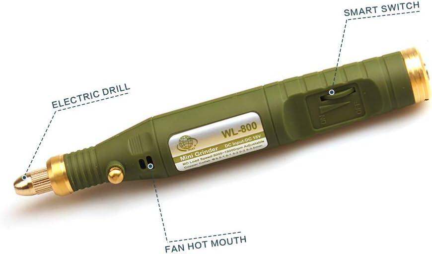 P-500-6 UnionFashionLi Elektrische Engraver Pen Gravur Carve 105pcs Tools Kit f/ür DIY Schmuck Holz Metall Glas Jade Achat Holz Precision Set