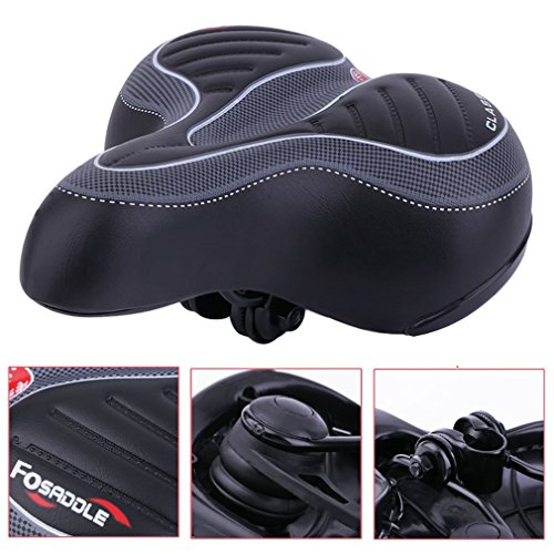 Comfort Bike Seat Wide Big Bum Bike Bicycle Gel Cruiser Extra Comfort Sporty Soft Pad Saddle Seat Coldcedar Most Comfortable Replacement Bicycle Saddle Universal Fit For Exercise Bike And Outdoor Bike