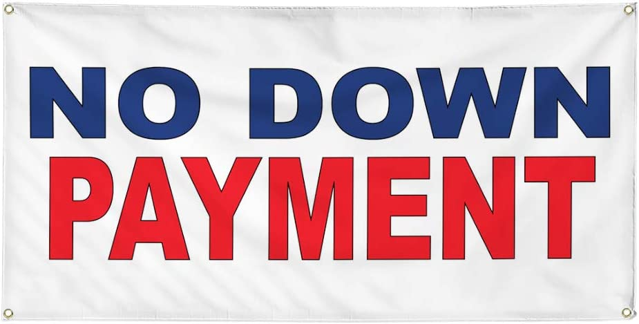 Vinyl Banner Multiple Sizes No Down Payment Blue Red A Business Outdoor Weatherproof Industrial Yard Signs 10 Grommets 60x144Inches