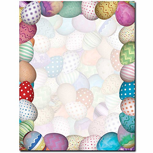 Painted Easter Eggs Letterhead Laser & Inkjet Printer Paper, 100 pack]()