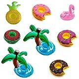 Inflatable Floating Fruit Drink Holder Set (8 Pack)