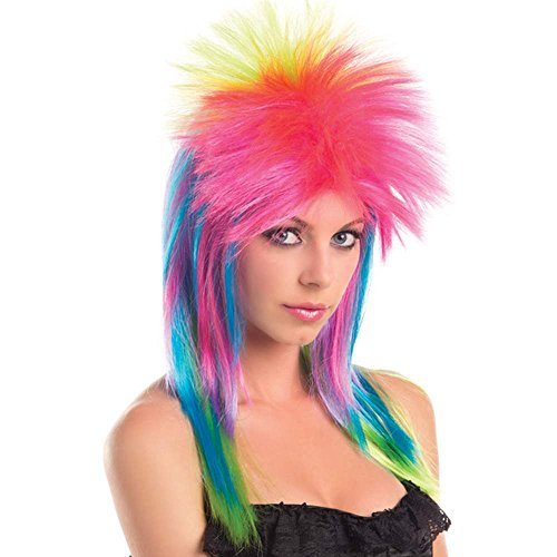 80s Neon Rainbow Wig Costume Accessory (80s Group Costumes)