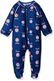 rangers clothing - MLB Newborn Rangers Sleepwear All Over Print Zip Up Coverall, 0-3 Months, Deep Royal