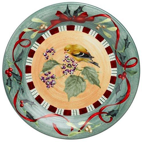 Lenox Winter Greetings Everyday Stoneware Goldfinch Dinner Plate (Bird Plate Lenox)