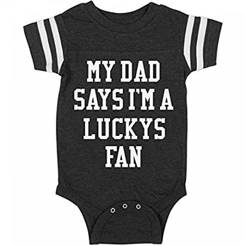 Funny My Dad Says I'm A Luckys Fan:Infant Rabbit Skins Football Bodysuit