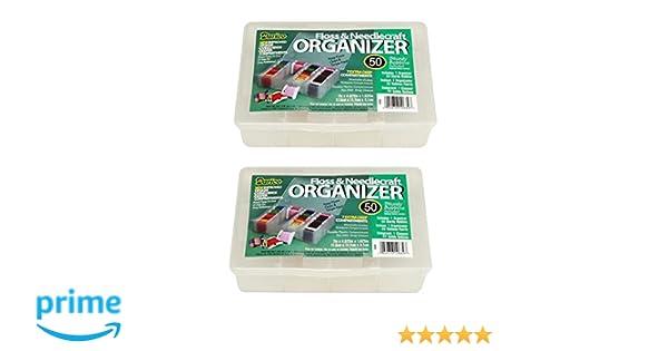 Amazon.com: Darice Mini Floss and Needlecraft Organizer - Set of 2 with Bobbins