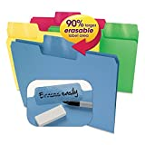 Smead 10480 Erasable SuperTab File Folders, Letter, Assorted Colors, 24/Set