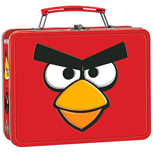 amscan Fun-Filled Angry Birds Birthday Party Lunch Tin Box Favor (1 Piece), 5 1/8