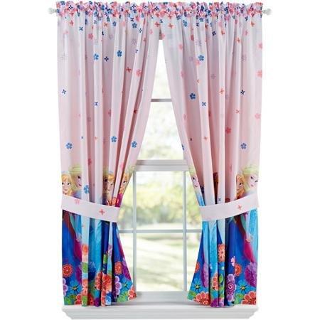 Disneys Frozen Breeze Into Spring Window Panels, Set of 2, Pink