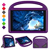 PC Hardware : Kids Case for F i r e H D 10 2017 Tablet (5th Generation, 2015 Release / 7th Generation, 2017 Release), Portable Shockproof Convertible Handle Light Weight Cover with Stand for All New F i r e H D 10 Inch Tablet (Purple)