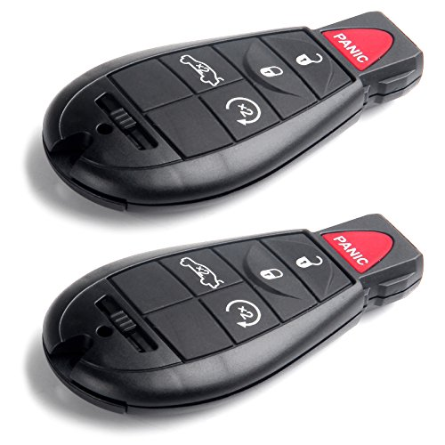 SCITOO Uncut Ignition Key Fob 2X 5 Button Keyless Entry Option Replacement fit for Chrysler 300 Town & Country/Jeep Commander Grand Cherokee/Dodge Series M3N5WY783X IYZ-C01C