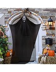 Hanging Skeleton Ghost Halloween Decorations, Hanging Ghost Skeleton Hanging Reapers, Decoraciones colgantes de fantasmas de Halloween de 12.5 pies, decoración de día festivo y decoración de patio delantero, césped, jardín