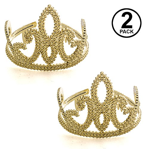 Tigerdoe Tiara - Gold Tiara - Tiara Crown - Queen Tiara - Homecoming Queen Crown - Costume Tiara - 2 Pack ()