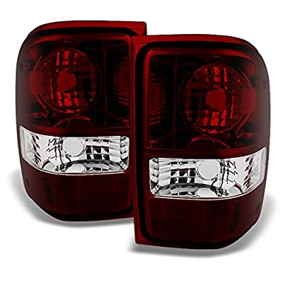 For Ford Ranger Pickup Truck Dark Red Rear Tail Lights Brake Lamps Turn Signal Replacement Left+Right: Automotive [5Bkhe1007545]