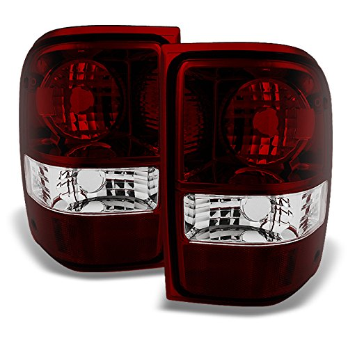 For Ford Ranger Pickup Truck Dark Red Rear Tail Lights Brake Lamps Turn Signal Replacement Left+Right - Ranger Tail New Ford Lamp