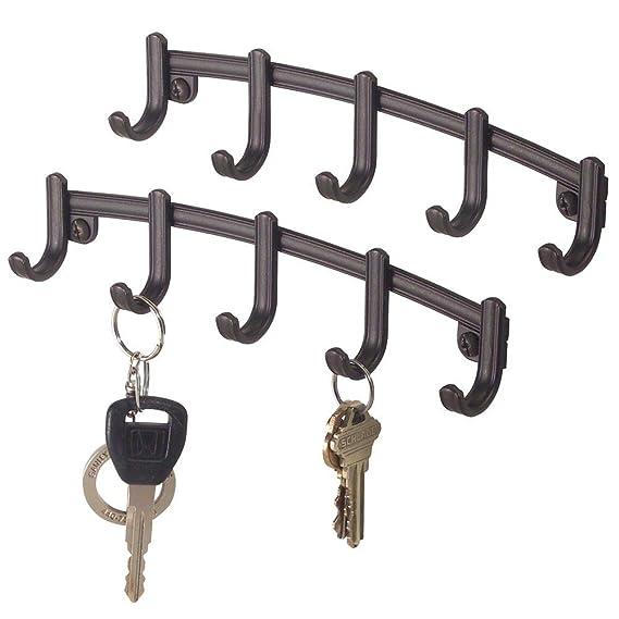 Amazon.com: mDesign Mount clave rack Organizador de pared ...
