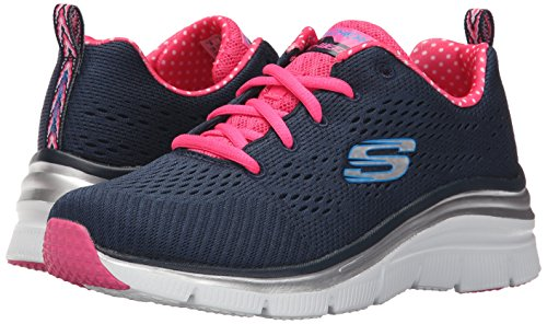 Fit Baskets Piece Femme nvhp Bleu Basses Skechers Fashion Statement TxqOnaH