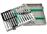 Airgoesin 10-Slot Sterilization Cassette Rack for 10 Dental Surgical Instrument Autoclavable