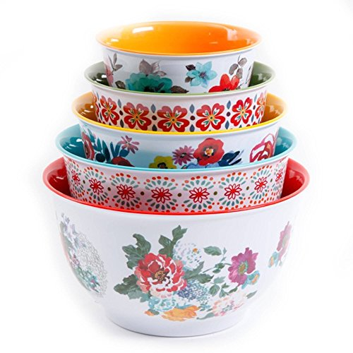 Bowl Dinnerware Mixing - The Pioneer Woman Country Garden Nesting Mixing Bowl Set 10-Piece