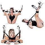 Esposas peludas y puños de tobillo kit de restricción con ajustable en la cama Bondage juego de coqueteo para regalo