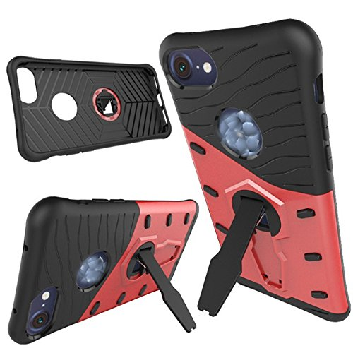 Apple iPhone 7 4.7 zoll 2016 HYBRID case rot Tasche Hülle mit stand - Zubehör Etui cover iPhone 7 Dual SIM (red) - XEPTIO accessoires