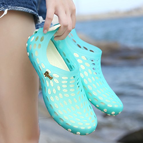 Xing Lin Sandalias De Hombre Nuevas Sandalias Hombre De Baotou Zapatillas Hembra De Plástico Antideslizante Orificio Sandalias De Verano Transpirable Zapatos Calzado De Playa Hombres sky blue