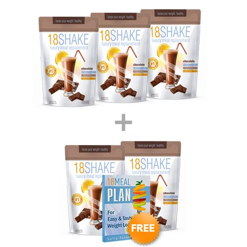 Cheap 18 Shake Chocolate – 5pck – Free Ebook – Top Rated Protein Formula – Gluten Free – No Hormones – No Artificial Sweeteners – 100% Healthy Weight Loss