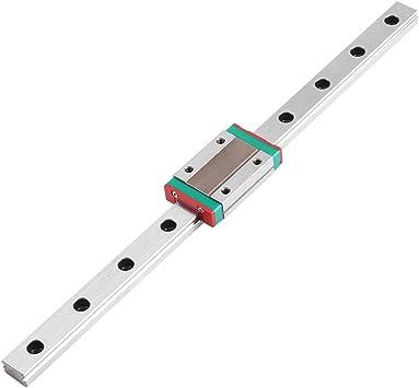 Mini Steel 250-550mm Linear Slide Rail Guide MGN12H Sliding Block CNC 3D Printer
