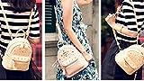 Ladies mini backpack leather multi-pocket backpack